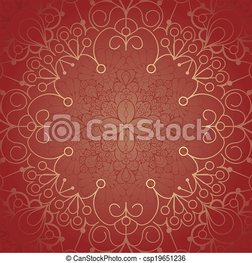 Background with lace ornament - csp19651236