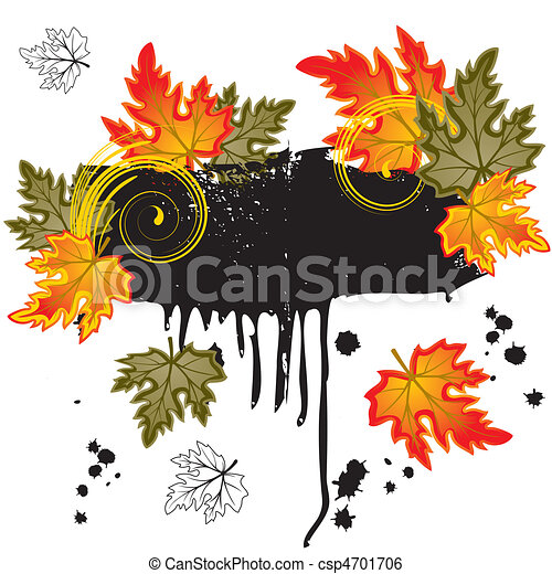 Background  with  leaves - csp4701706
