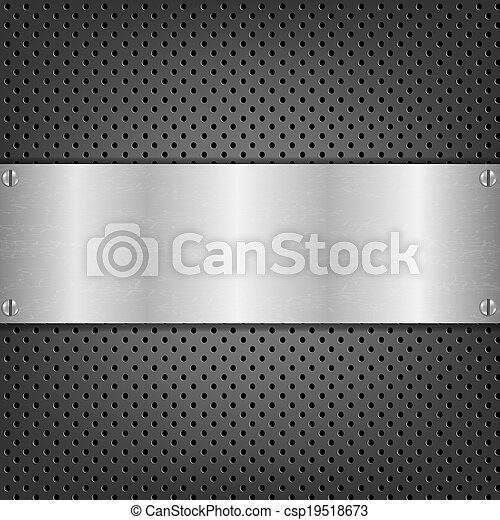 Background With Metal Plate - csp19518673