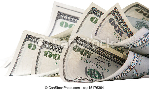 Background with money american hundred dollar bills - csp15176364