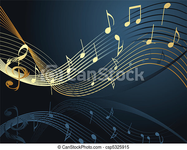 Background with music notes - csp5325915