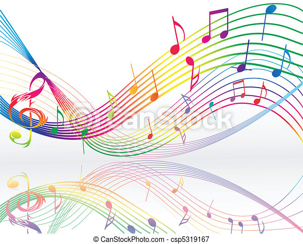 Background with music notes - csp5319167