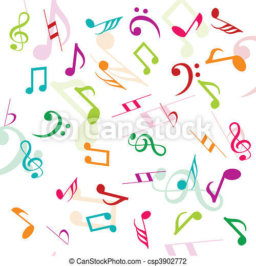 Background with musical notes - csp3902772
