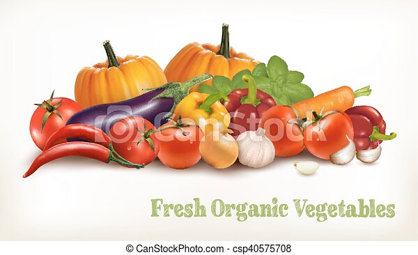 Background With Organic Fresh Veget - csp40575708