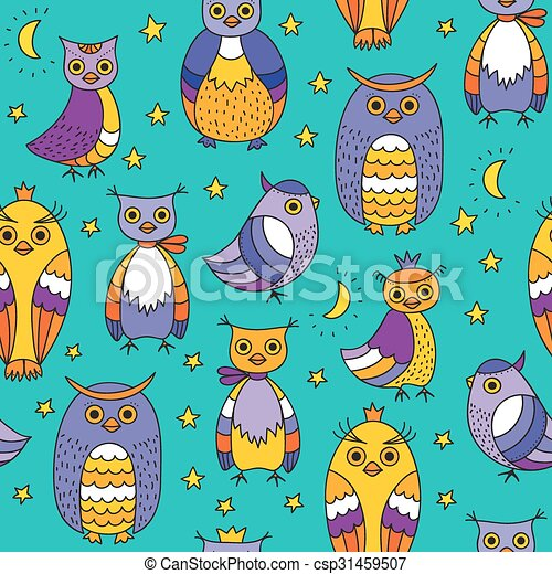 Background with owls - csp31459507