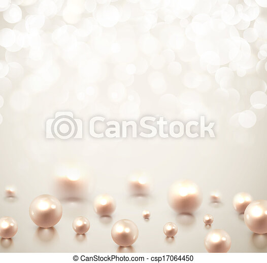 Background with pearls - csp17064450