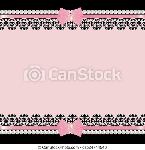 Background with pearls - csp24744540