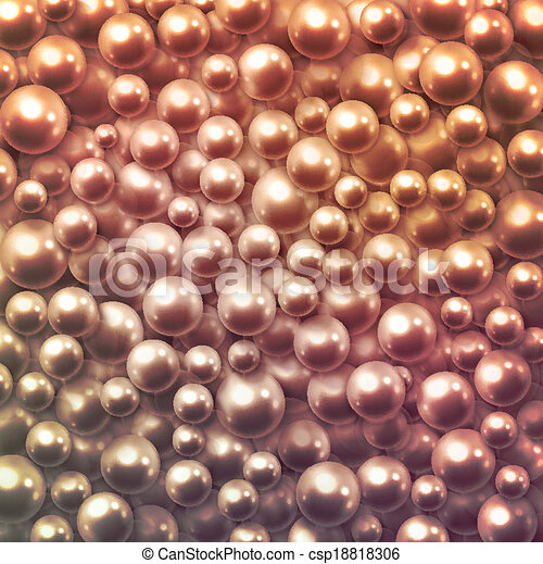 Background with pearls - csp18818306