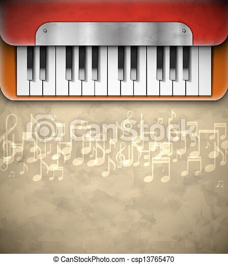 Background with piano - csp13765470