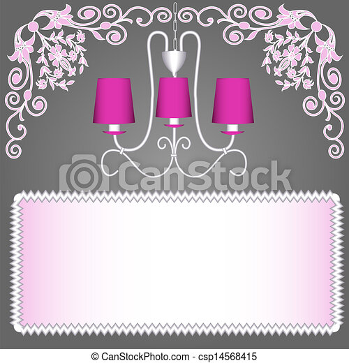 Background With Pink Chandelier For Invitations