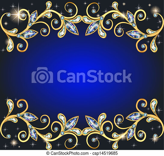 background with precious stones and shining stars - csp14519685