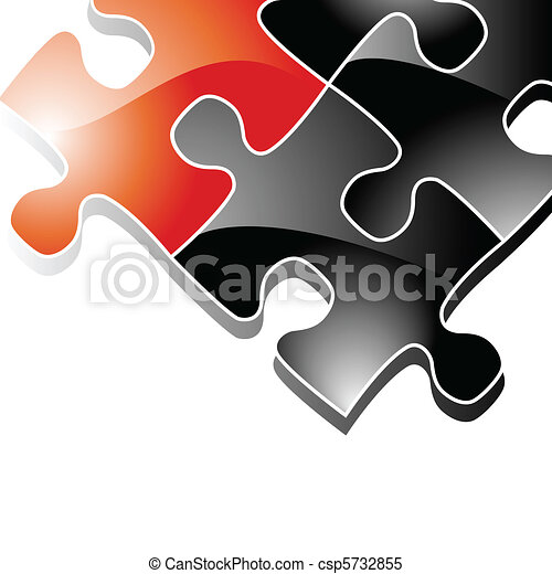 Background with Puzzle Pieces - csp5732855