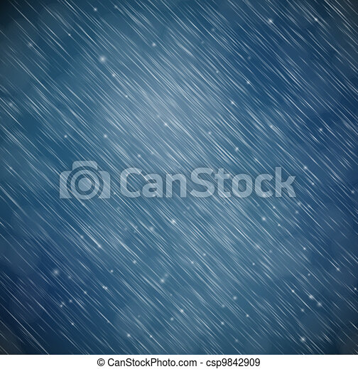 Background with rain - csp9842909