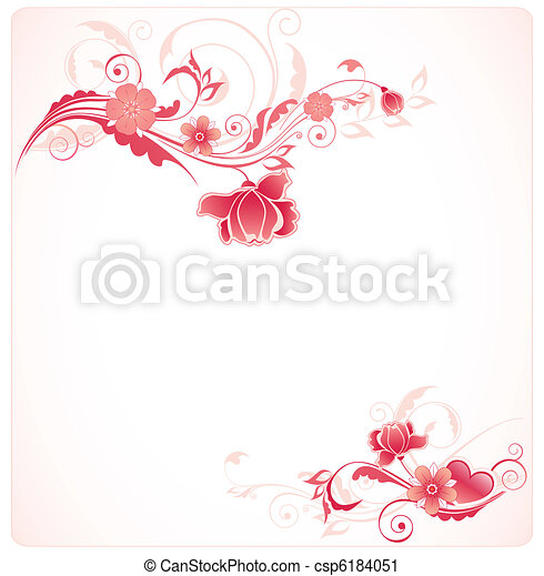 background with red flowers - csp6184051
