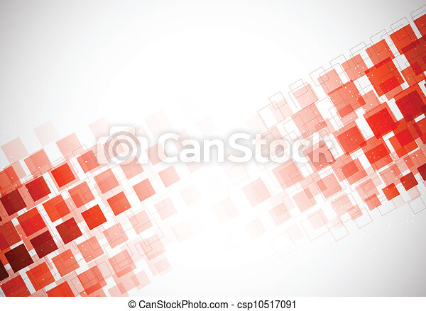 Background with red squares - csp10517091