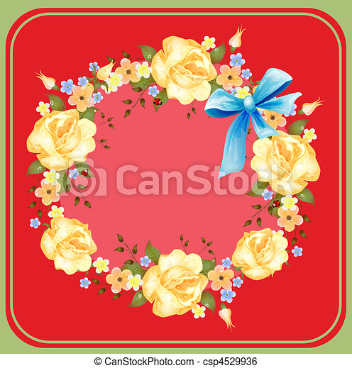 background with roses - csp4529936