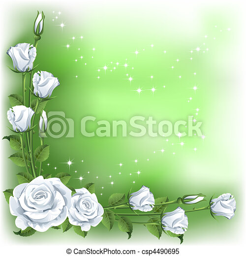 Background with roses - csp4490695