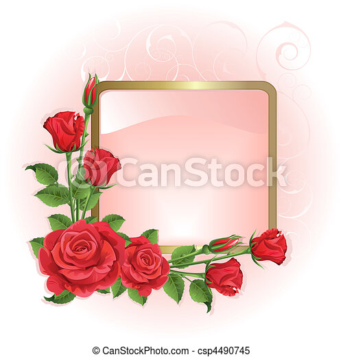 Background with roses - csp4490745