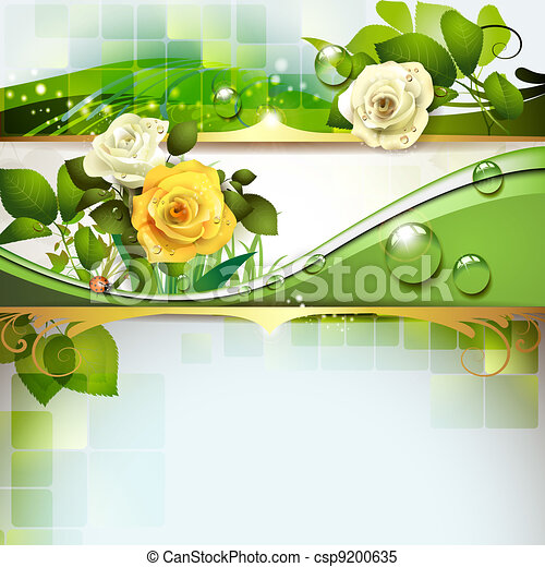 Background with roses - csp9200635