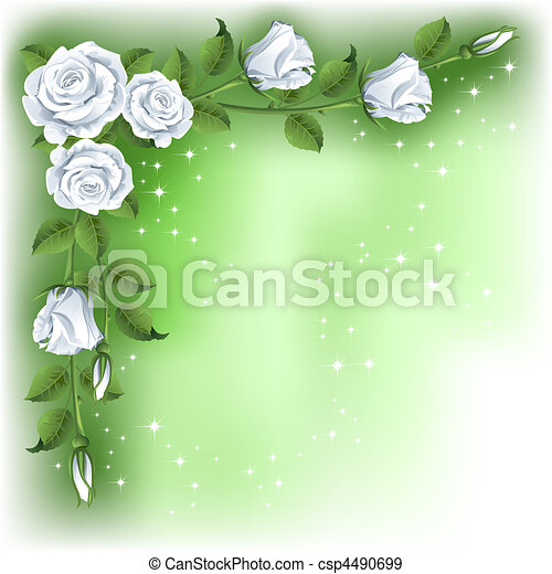 Background with roses - csp4490699
