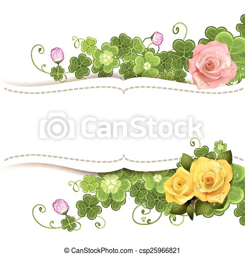 Background with roses - csp25966821