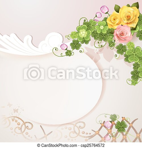 Background with roses - csp25764572