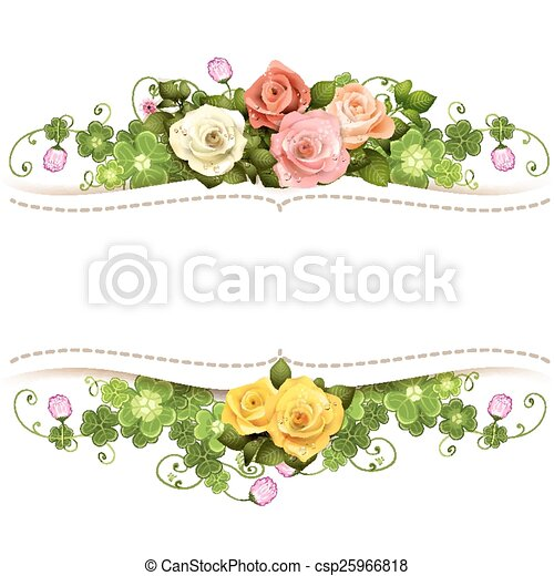 Background with roses - csp25966818
