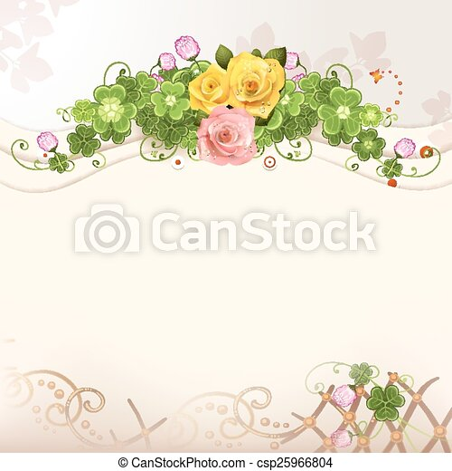 Background with roses - csp25966804