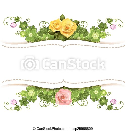 Background with roses - csp25966809