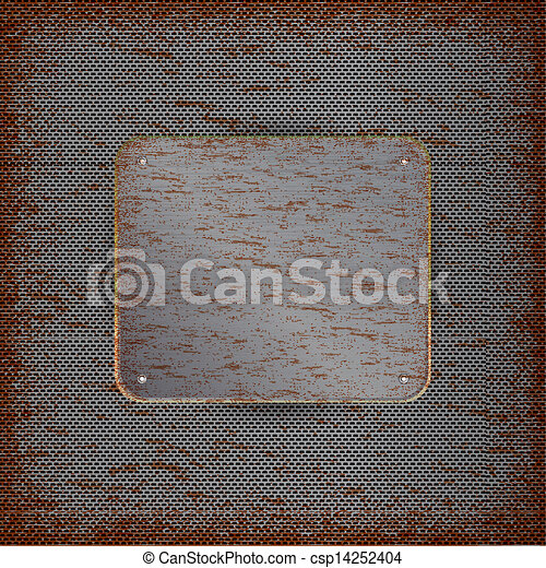 Background with rusted metal texture - csp14252404