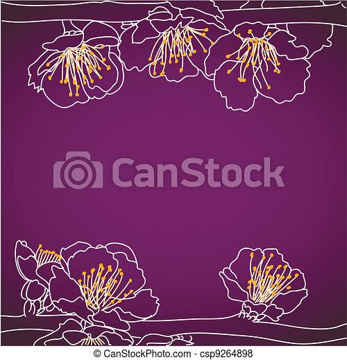 background with sakura flowers - csp9264898