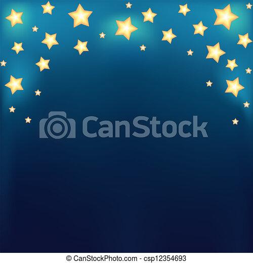Background with shiny cartoon stars - csp12354693