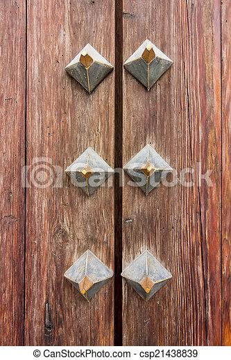 background with slats of a wooden door - csp21438839