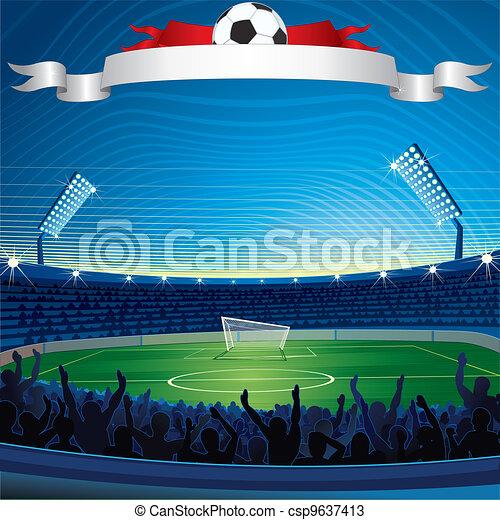 Background with Soccer Stadium - csp9637413
