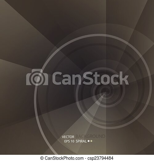 Background with spiral vortex of abstract geometric shapes - csp23794484