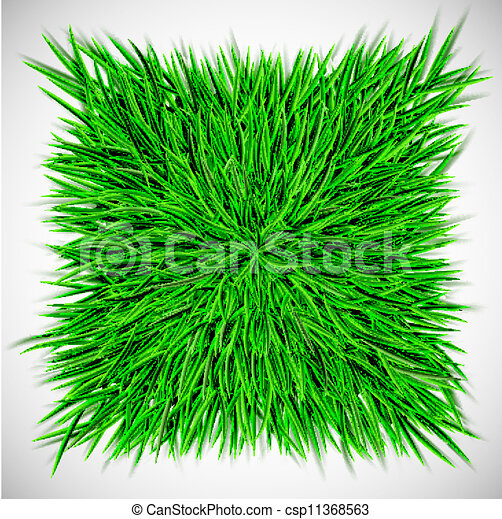 Background with square of grass - csp11368563
