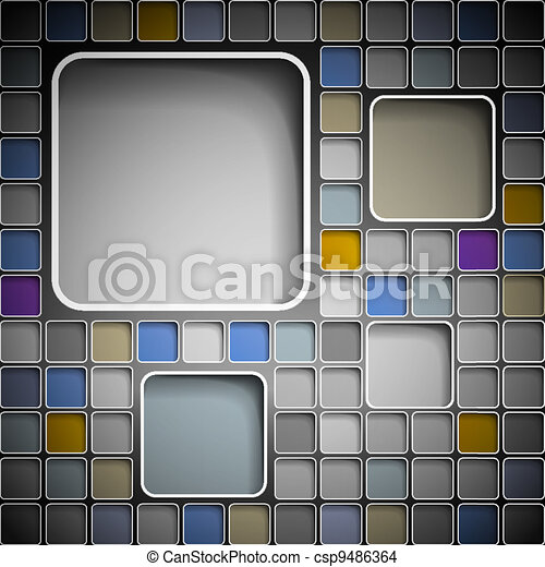 Background with squares - csp9486364