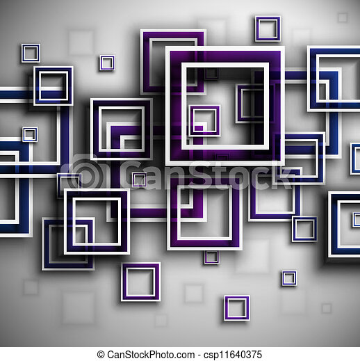 Background with squares - csp11640375