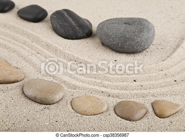 Plakat Zen Spirit Entspannung Pebble Auf Sand