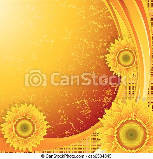 Background with sunflowers - csp6504845