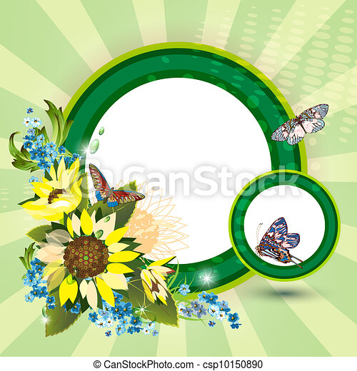 Background with sunflowers - csp10150890