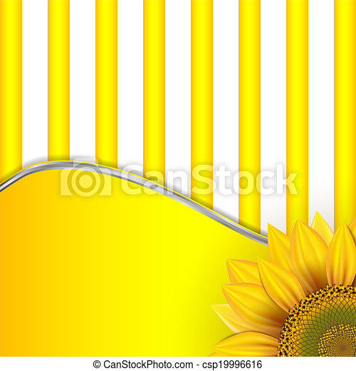Background with sunflowers - csp19996616