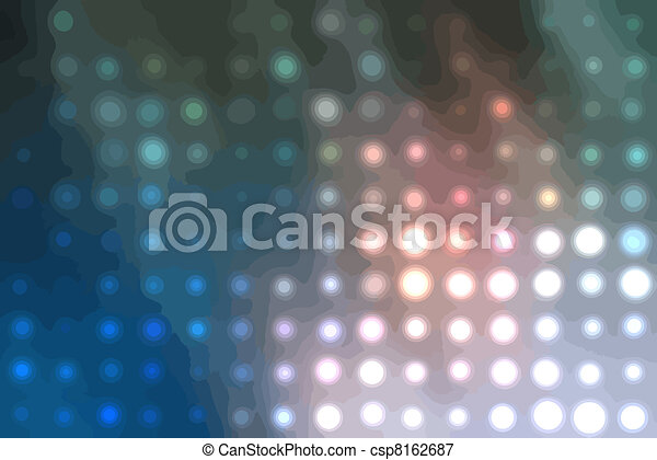 Background with the coloured circles - csp8162687