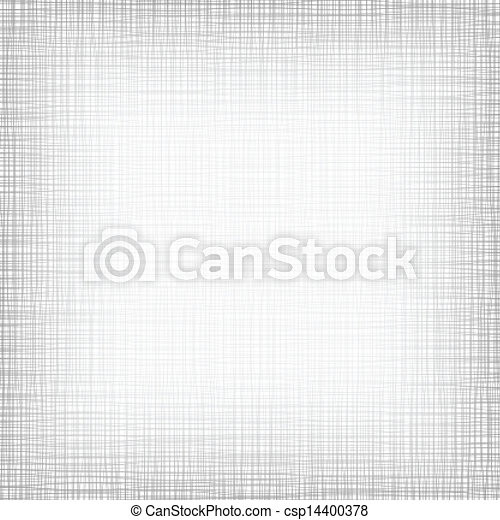 Background With Threads. White Gray Linen. Vector Illustration - csp14400378