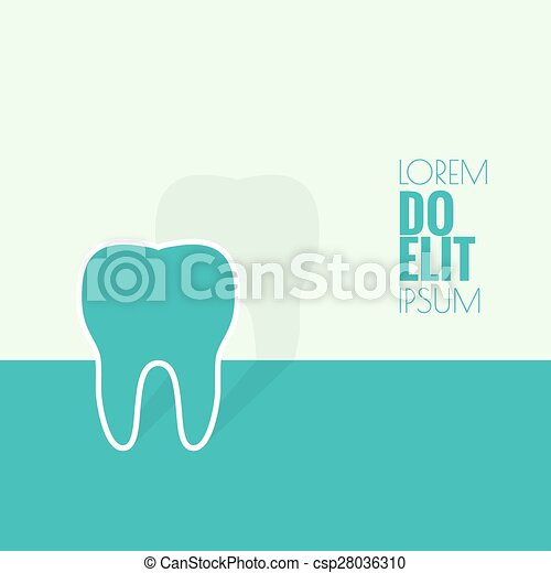 Background with tooth - csp28036310