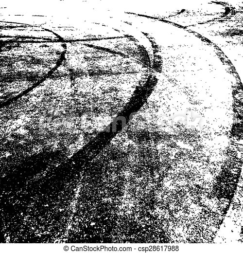 Background with traces of tires.  - csp28617988