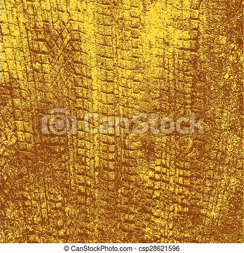 Background with traces of tires. Vector illustration. - csp28621596