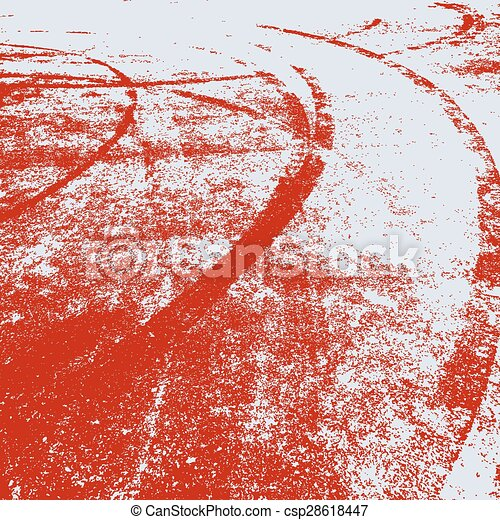 Background with traces of tires. Vector illustration. - csp28618447