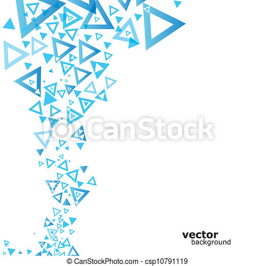 background with triangle. - csp10791119
