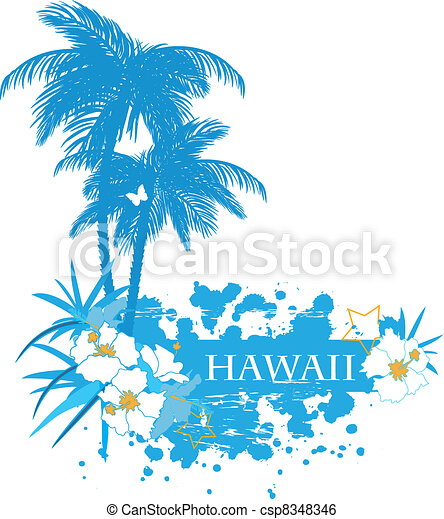 Background with tropical plants - csp8348346
